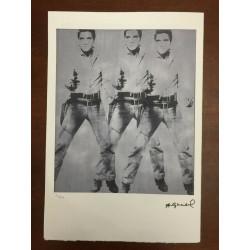 Dettagli su  Andy Warhol Litografia 57 x 38 Arches Timbro Secco Israel Castelli AN509