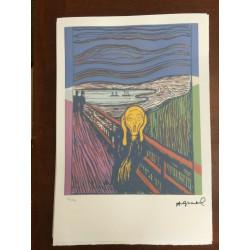 Dettagli su  Andy Warhol Litografia 57 x 38 Arches Timbro Secco Israel Castelli AN059