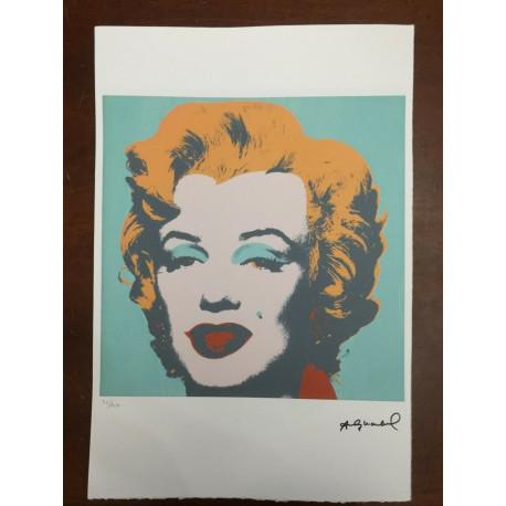 Dettagli su  Andy Warhol Litografia 57 x 38 Arches Timbro Secco Israel Castelli AN456