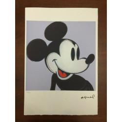 Dettagli su  Andy Warhol Litografia 57 x 38 Arches Timbro Secco Israel Castelli AN275