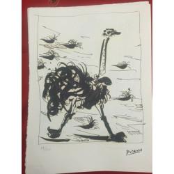Dettagli su  Picasso Litografia 38.5 x 28.5 cm Firma Timbro Spadem 1995 edizione 250 PIC024
