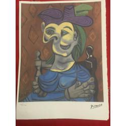 Dettagli su  Picasso Litografia 38.5 x 28.5 cm Firma Timbro Spadem 1995 edizione 250 PIC108