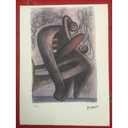 Dettagli su  Picasso Litografia 38.5 x 28.5 cm Firma Timbro Spadem 1995 edizione 250 PIC198