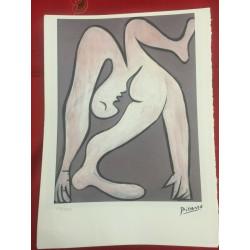 Dettagli su  Picasso Litografia 38.5 x 28.5 cm Firma Timbro Spadem 1995 edizione 250 PIC033