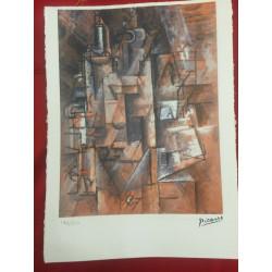 Dettagli su  Picasso Litografia 38.5 x 28.5 cm Firma Timbro Spadem 1995 edizione 250 PIC057