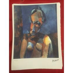 Dettagli su  Picasso Litografia 38.5 x 28.5 cm Firma Timbro Spadem 1995 edizione 250 PIC083