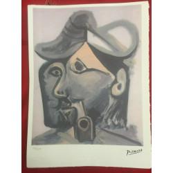 Dettagli su  Picasso Litografia 38.5 x 28.5 cm Firma Timbro Spadem 1995 edizione 250 PIC090