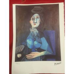 Dettagli su  Picasso Litografia 38.5 x 28.5 cm Firma Timbro Spadem 1995 edizione 250 PIC071