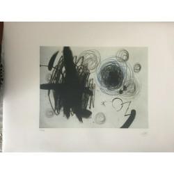 Joan Miro Litografia Spadem su carta Arches cm 56x76 ccon fotocertificato