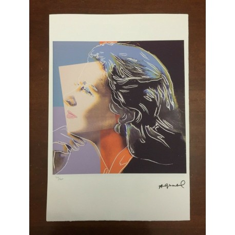 Dettagli su  Andy Warhol Litografia 57 x 38 Arches Timbro Secco Israel Castelli AN599