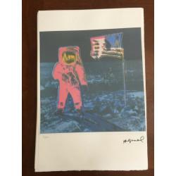Dettagli su  Andy Warhol Litografia 57 x 38 Arches Timbro Secco Israel Castelli AN055