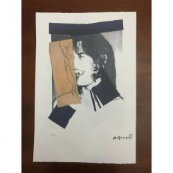 Dettagli su  Andy Warhol Litografia 57 x 38 Arches Timbro Secco Israel Castelli AN482