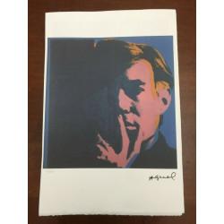 Dettagli su  Andy Warhol Litografia 57 x 38 Arches Timbro Secco Israel Castelli AN325