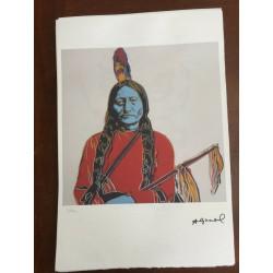 Dettagli su  Andy Warhol Litografia 57 x 38 Arches Timbro Secco Israel Castelli AN042