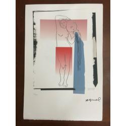 Dettagli su  Andy Warhol Litografia 57 x 38 Arches Timbro Secco Israel Castelli AN131