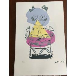 Dettagli su  Andy Warhol Litografia 57 x 38 Arches Timbro Secco Israel Castelli AN067