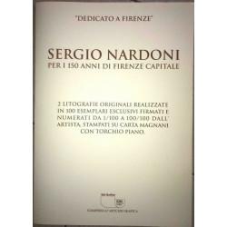 """Dettagli su  Sergio Nardoni - 2 Litografie - """"Dedicato a Firenze"""" - Numerate e Firmate"""