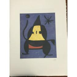Dettagli su  Joan Miro Litografia Spadem su carta Arches cm 56x76 ccon fotocertificato