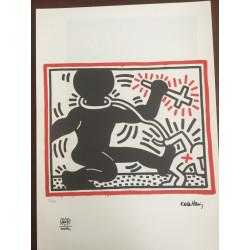 Keyt Haring Litografia 50x70 ed. 2010 timbro fondazione