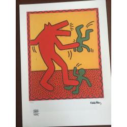 Keith Haring Litografia 50x70 ed. 2010 timbro fondazione