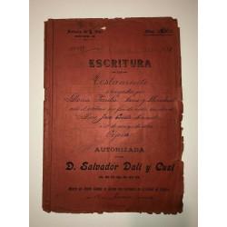 Dettagli su  Salvador Dali - Atto Notarile - Firmato dal padre dell'artista - 1904
