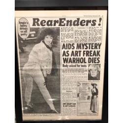 Dettagli su  Andy Warhol - Giornale Originale con notizia della sua morte - Anno 1987 - Raro