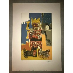 Dettagli su  Jean-Michel Basquiat - Litografia - Untitled - 1982 - 250 ex. - 50x70