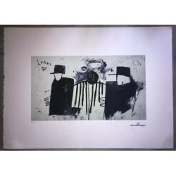 Dettagli su  Jean-Michel Basquiat - Litografia - Untitled - 1981 - 250 ex. - 50x70