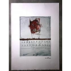 Dettagli su  Jean-Michel Basquiat - Litografia - Untitled - 1981 - 250 ex.- 50x70