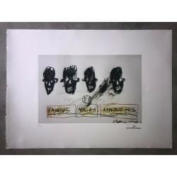 Dettagli su  Jean-Michel Basquiat - Litografia - Famous Negro Athletes- 1981 - 250 ex.- 50x70