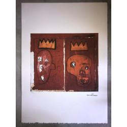 Dettagli su  Jean-Michel Basquiat - Litografia - Red Kings - 1981 - 250 ex. - 50x70