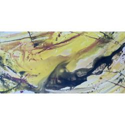 Dettagli su  Pietro Sarandrea - Tecnica Mista su tela - 100x50 - certificato artista