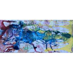 Dettagli su  Pietro Sarandrea - Tecnica Mista - 100x50 - certificato artista