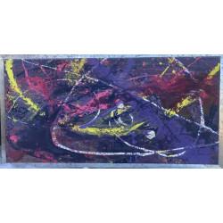 Dettagli su  Pietro Sarandrea - Tecnica Mista su tela - 120x60 - certificato artista