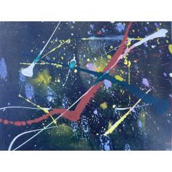 Dettagli su  Pietro Sarandrea - Tecnica Mista su tavola - 30x24 cm - certificato artista
