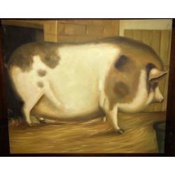 Dettagli su  Olio Su Tela - Tela d'autore Dipinto a olio - 60 x 50 cm