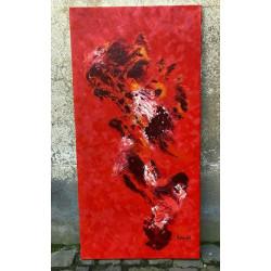 Dettagli su  Kyrah - olio su tela - cm 67x125 - certificato