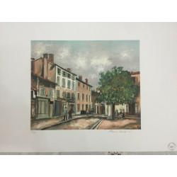 Utrillo Maurice Litografia cm 50x70 con fotoautentica edizione 1995