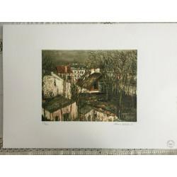 Dettagli su  Utrillo Maurice Litografia cm 50x70 con fotoautentica edizione 1995