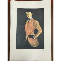Dettagli su  Modigliani Amedeo Litografia cm 51x78 con fotoautentica edizione Georges Israel