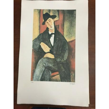 Modigliani Amedeo Litografia cm 51x78 con fotoautentica edizione Georges Israel